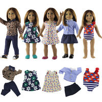 5 Sets Girl Doll Clothes for 18'' American Girl Doll Dress Outfits Formal Sets