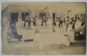 Women Restaurant Workers, Servers Old 1908 RPPC Postcard Brookings to Bristol SD