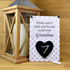 Weeks Until I Retire and Become a Full Time Grandma Countdown Plaque 681