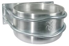 Aluminum Feeding Trough round approx. 18 Litre Food bowl Horse Cattle