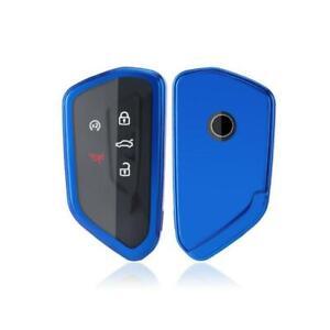 Soft TPU Car Remote Key Case Cover Holder Fob For VW Golf 8 Seat Skoda Leon 4