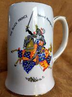 The Black Prince Knight Mug Stein Tankard Sadler England Prince of Wales