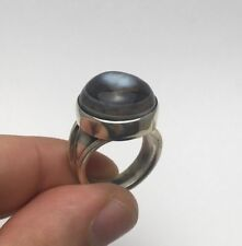 Turkish Ottoman Crown Luxury Cool Aqeeq 925K Sterling Silver Men's Ring
