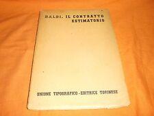 balbi il contratto estimatorio utet 1952