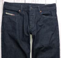 Mens DIESEL Waykee Jeans W33 L30 Blue Regular Straight Wash 0088Z