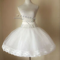 Vintage Knee Length Swing Skirt Prom Silps Crinoline Bridal Petticoat Underskirt