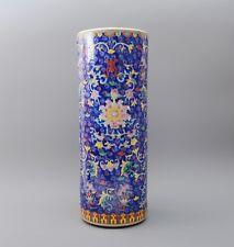 Keramik Schirmständer / Regenschirmständer / Schirmhalter / Ständer 56cm blau