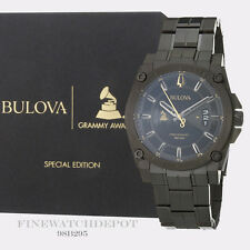 Authentic Bulova Men's Stainless Steel Grammy's Special Edition Watch 98B295