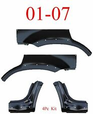 With Holes 01 07 Escape 4Pc Dog Leg & Arch Panel Set Upper, Ford Mercury Mariner