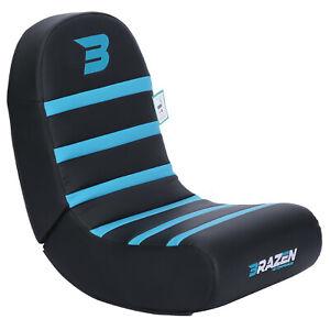 BraZen Floor Rocker Gaming Chair - Piranha - Blue