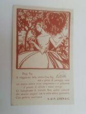 Cartolina Pubblicitaria Coen Roma Stoffe Arte Liberty Vestiti Moda