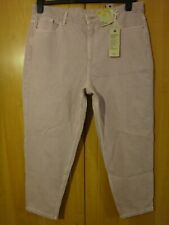 M & S Light Lilac High Rise Mom Jeans Size 16 short BNWT