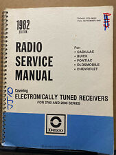 1982 Delco Radio Service Manual for Cadillac Pontiac Buick Olds Chevy + Car