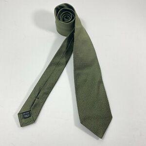 Joseph by Jos A Bank Green Grenadine SOLID 100% Silk Necktie  New
