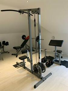 POWERLINE & BOWFLEX Home Multi Gym Weights Lat Pulldown Curl Bench Equipment