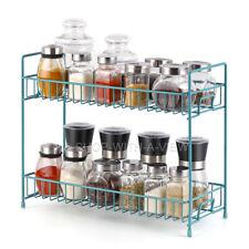 2-Tier  Storage Organizer Spice Jars Bottle Shelf Holder Rack Kitchen-NEX