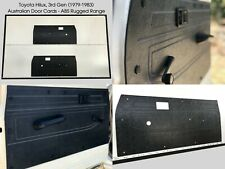 Toyota Hilux 3rd Gen 1978-1983, Ute. Rugged ABS Front Door Cards - Black