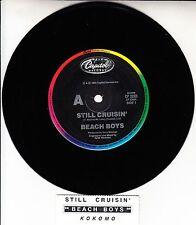 "THE BEACH BOYS  Still Cruisin' & Kokomo 7"" 45 rpm record + juke box title strip"