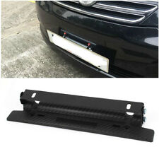 Hot Carbon Fiber Style Front Bumper License Plate Frame Mount Bracket Adjustable