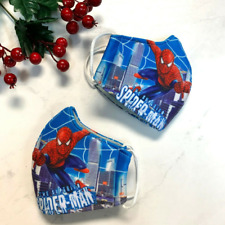 (Pack of 2) Children Kids Boys Fabric Face Mask Handmade Marvel Hero New