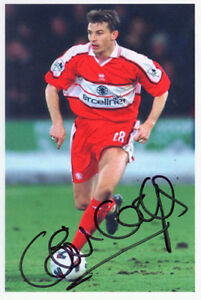 Colin Cooper, Middlesbrough, signed 6x4 inch photo. COA.