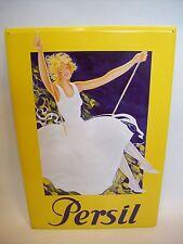 Persil  Email-Metallschild  Titel : Dame auf Schaukel  60 x 40cm