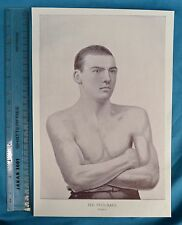Original 1894 Antique Print Portrait Gallery Of Pugilists Ted Pritchard Boxer