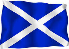 Scottish St Andrews Wavy Flag Car Exterior Vinyl Sticker Scotland Satire