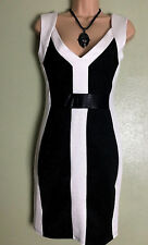 Kardashian Collection Lipsy Black White Pencil Wiggle Sexy Party Dress Size 10