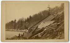 1886 | 4 RARE photos 'EAST COAST CARNAGE' | west deerfield train crash | USA