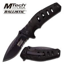 Spring-Assist Folding Pocket Knife Mtech Heavy Duty Black Serrated Blade A851