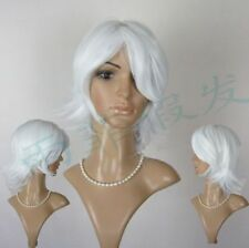 FIX422 new style fashion short white straight hair Wig wigs for modern women