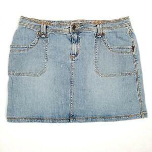 Jean Mini Skirt Size 12 Daisy Fuentes Denim Womens Blue Light Wash Moda