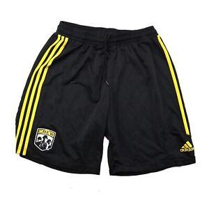 Adidas Columbus Crew SC  Old School Logo Black Youth L Large Soccer Shorts