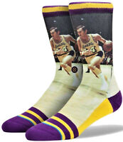 Calze Uomo Nba Legends Collection Jerry West  Giallo Stance Socks Men Lakers
