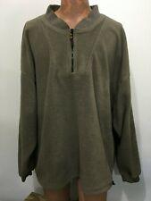 Woodland Trail Mens 4XL Light Green-Gray 1/4 Zip Fleece Pullover Jacket