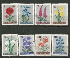 Bulgaria Scott# 1556-1563 (0) Usato Fiori 1966