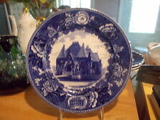 Wedgwood Historical Blue & White Plate Framingham Academy Built 1887