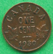 Lot H013 Canada 1930 1 one Cent penny King George V  Circulated