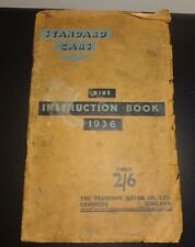 STANDARD NINE INSTRUCTION BOOK / OWNERS HANDBOOK.1936