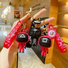 3D Squid Game Keychain Mini Doll Figurine Car Keychain Mini Doll Key Figurine Us