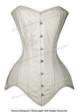 Heavy Duty 26 Double Steel Boned Waist Training Cotton Overbust Corset M