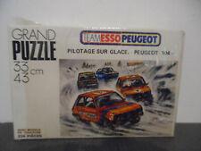 Rare Vintage Puzzle Team Esso Peugeot Pilotage sur Glace Peugeot 104 238 pièces