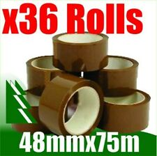 36 X Rolls Brown Packing Tape 48mm X 75m