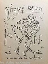 Daniel GREINER Jugenheim Zeichnungen ° Kirmes auf dem Friedhof 1922