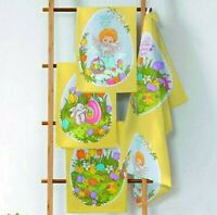 Set of 3 Cotton Kitchen Towels Set w/ Easter Print. Made in Russia. Paskha Пасха