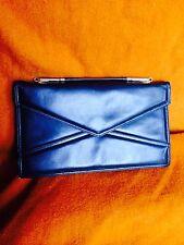FAIGEN envelop-clatch handbag, black genuine leather.