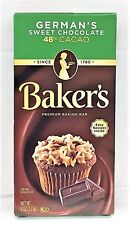 Baker's German's Sweet Chocolate Baking Bar 48% Cacao 4 oz Bakers