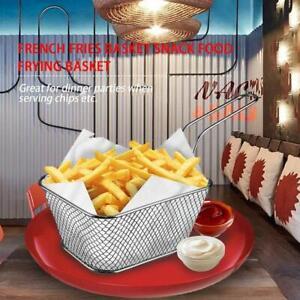 Chips Fries Serving Basket Steel Fries Potato 10.3*8.2*6cm NICE B7K7