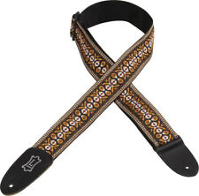 """Levy's M8HT-20 2"""" Hootenanny Jacquard Weave Guitar Strap - Classic Brown Weave"""